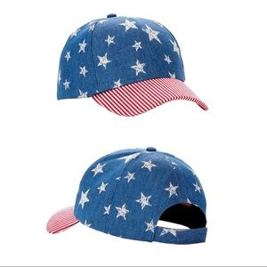 Accessories - NWOT Distressed Stars & Stripes Baseball Hat